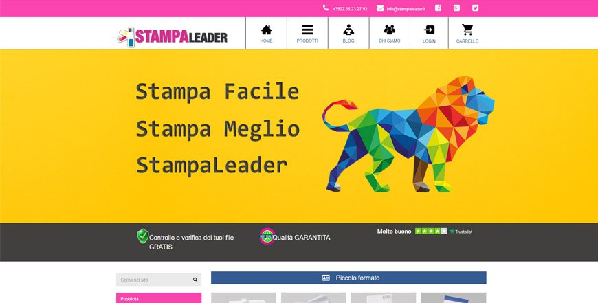 Campagna LeadCommerce per StampaLeader
